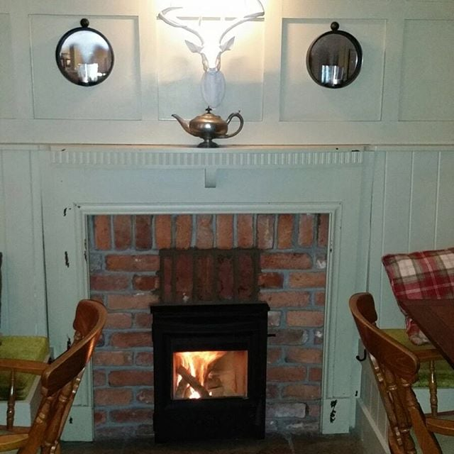 Installation of a ESSE MF 301 in the wheatsheaf in located in Brigsteer in the Lake District #wheatsheafbrigsteer #esse #insetstove #fireplace #stove