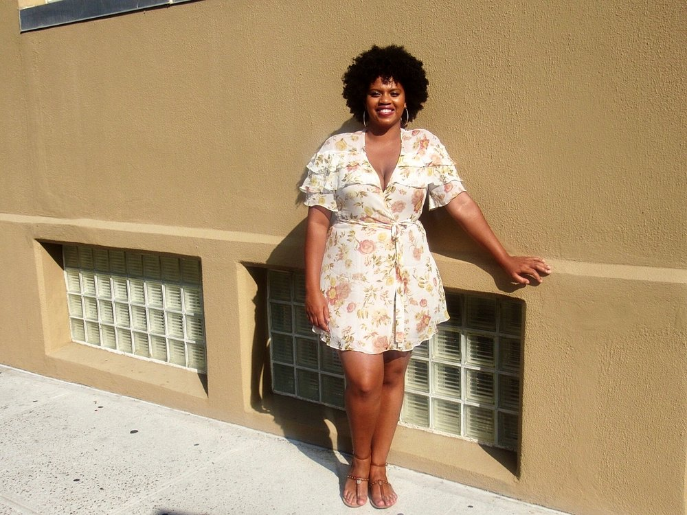 wrap dresses are so fun in the summer! I found this light frock brought out my most feminine side, and kept me cool in the August heat as I strolled Williamsburg.