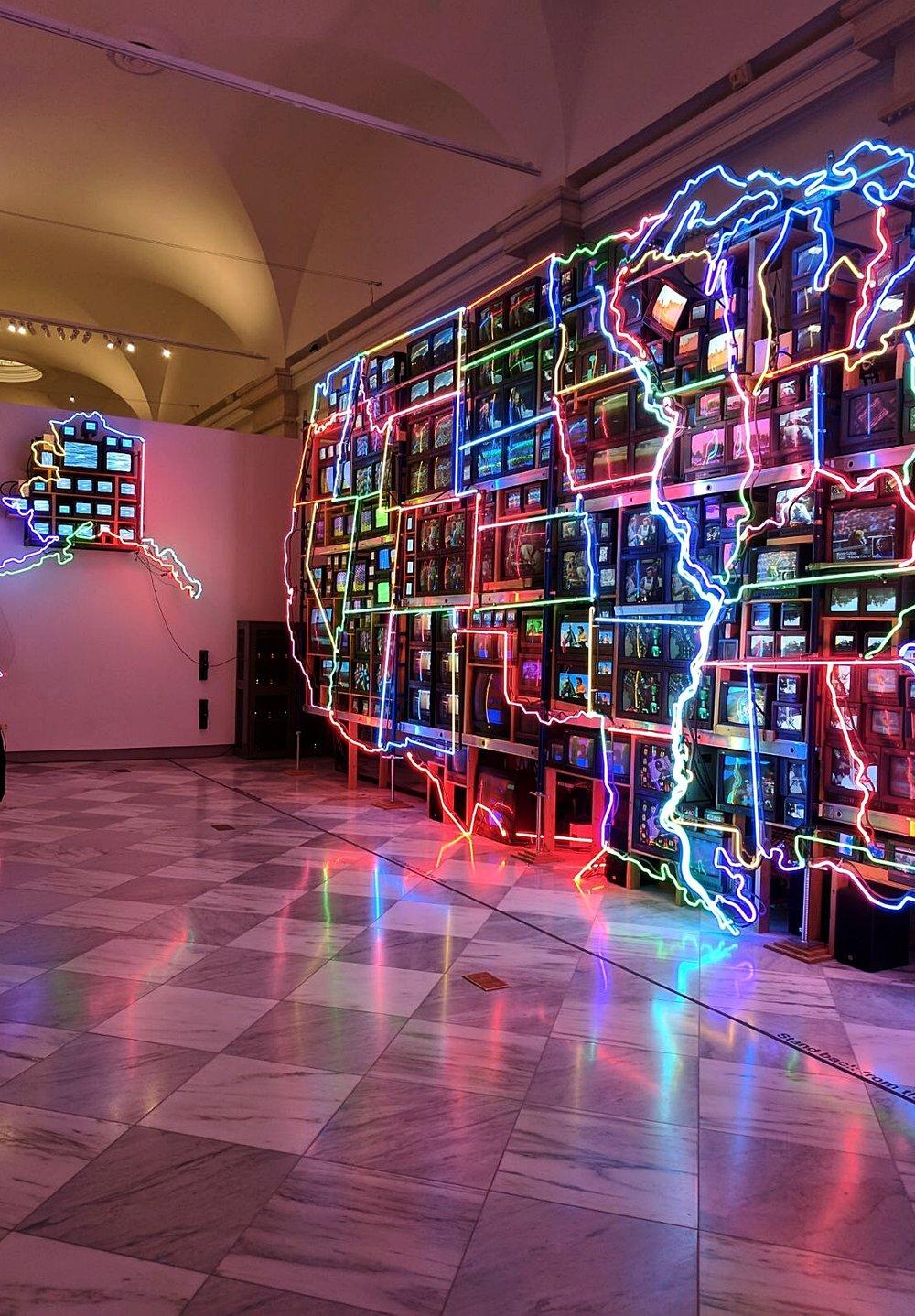 Electronic Superhighway- Nam Juin Paik, Smithsonian American Art Museum