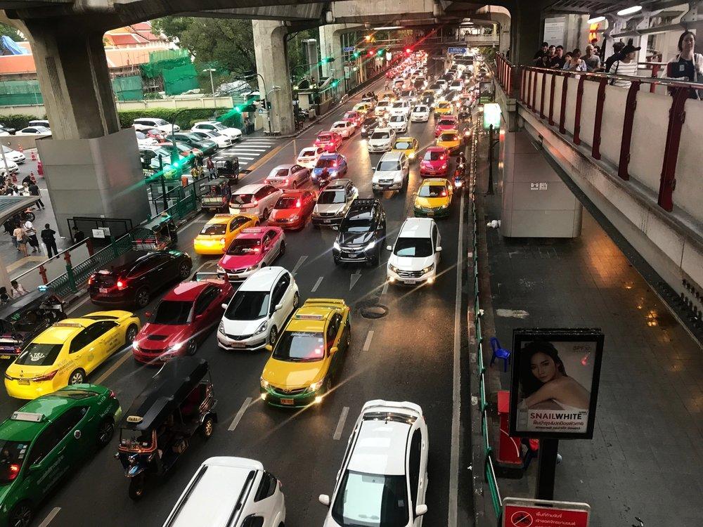 rush hour: BKK style. Bangkok, Thailand.