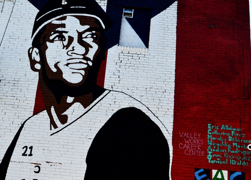 ROBERTO CLEMENTE . Art work created by  Essex Art Center  x  Valley Works Career Center