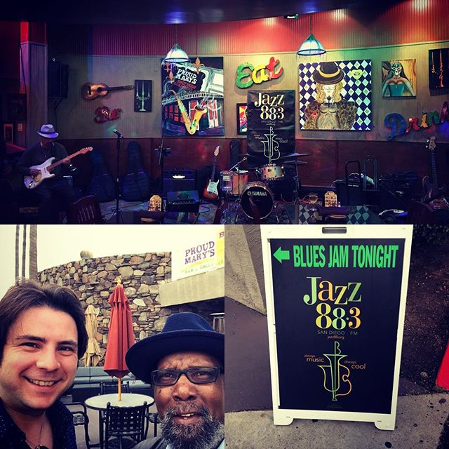 Fun playing the feature set with the house band at the @jazz883 Wednesday night #blues #jam!