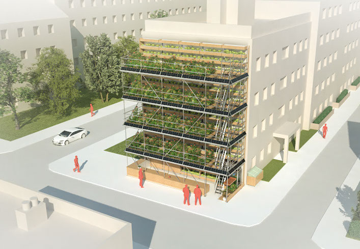 Greenbelly A Sustainable Vertical Garden To Produce Fresh Food In