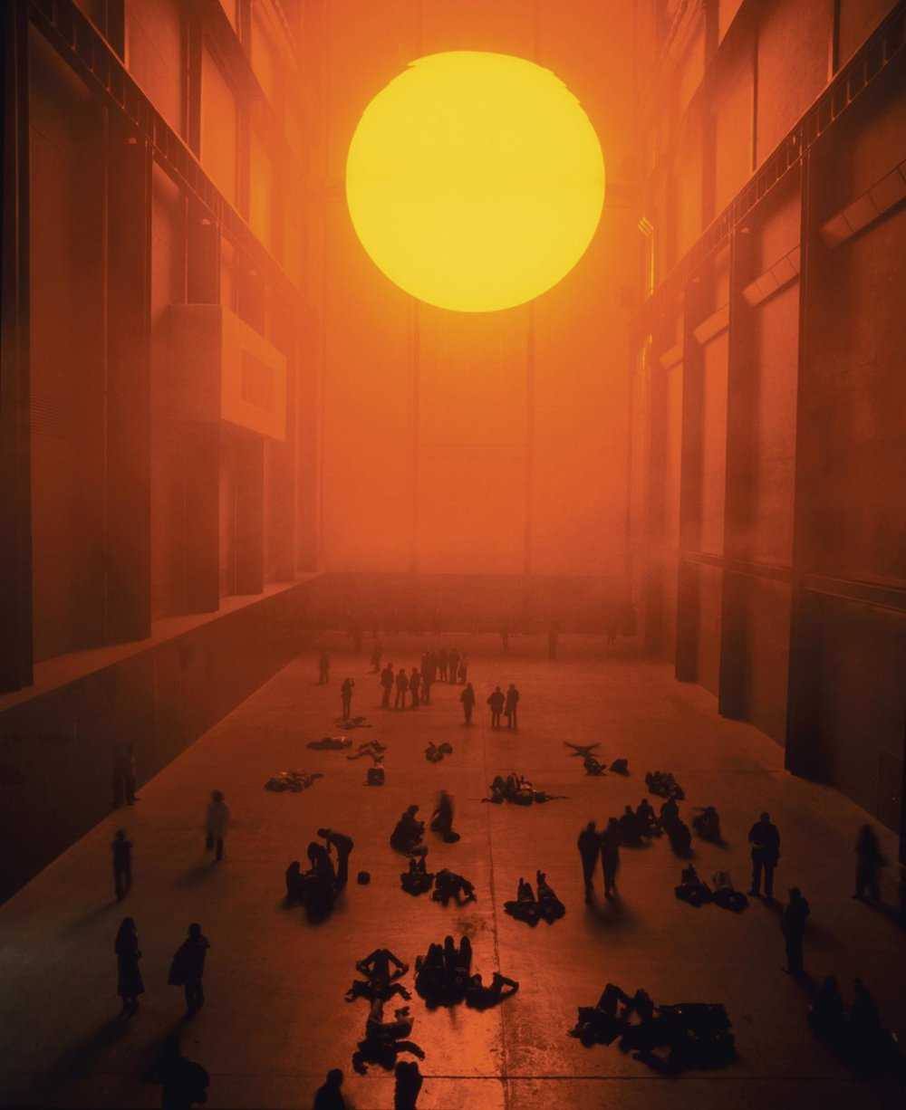 Olafur Eliasson; The weather project, 2003; Installation view: Tate Modern, London, 2003; Photo: Tate Photography (Andrew Dunkley & Marcus Leith) © 2003 Olafur Eliasson
