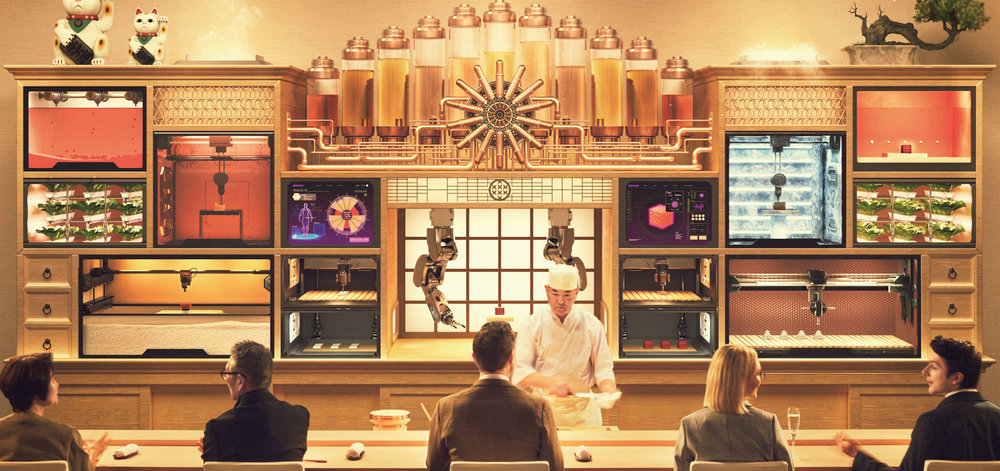 Sushi Singularity will open in 2020 offering 3D-printed sushi based on customer's biometric data