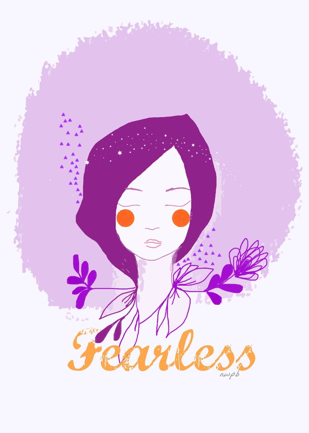 Fearless postcard, design I by Nieves Pumarejo