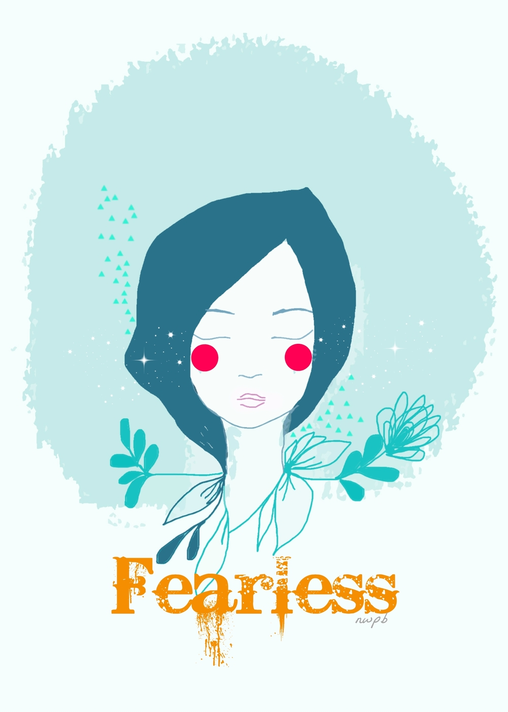 Fearless postcard, design II by Nieves Pumarejo