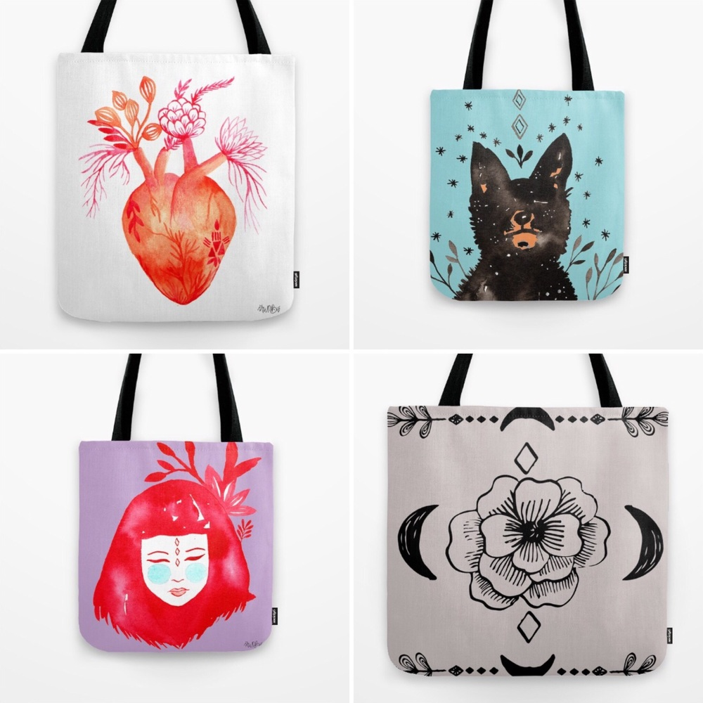 Tote bags for Society 6