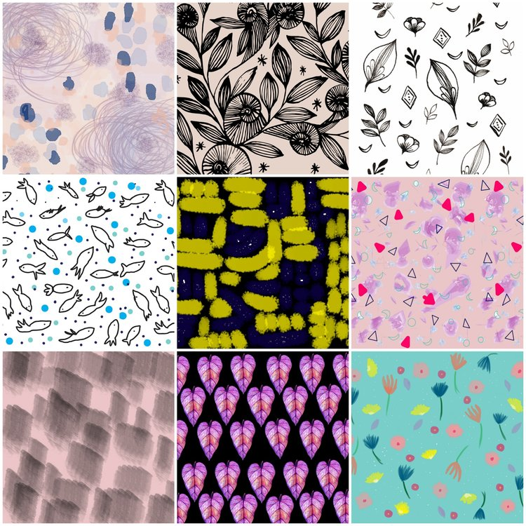 patterns design by Nieves Pumarejo