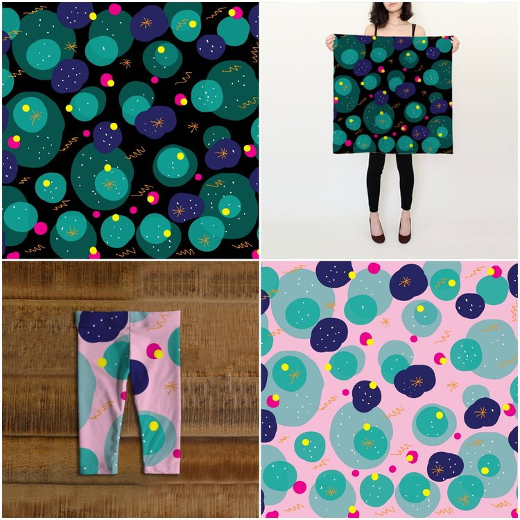 some playful patterns by Nieves Pumarejo