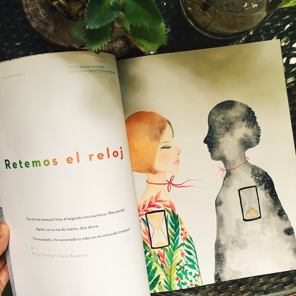 Illustration for a paper - Revista Emily, Puerto Rico