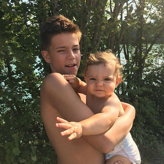Léon & Esteban ☀️❤️ Son & Nephew  #family #seconddayinswitzerland #vacation #love