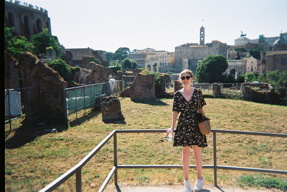 Roman Forum ft. a hot and sweaty me and some fences in the background