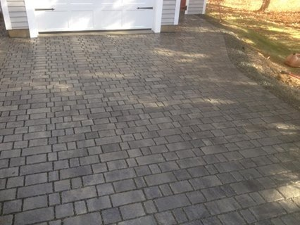 Permeable driveway installed by Monette Landscaping.
