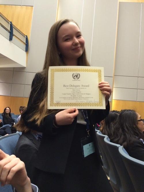 UCONN MUN: Best Delegate