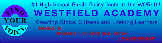 Westfield Academy of Debate, Model UN and Leadership
