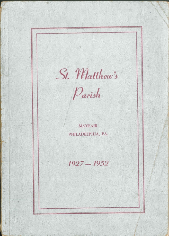 ST. MATTHEW (MAYFAIR) 25TH ANNIVERSARY HISTORY