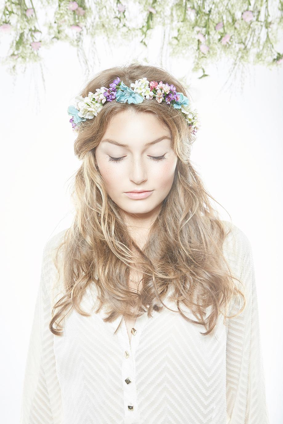 """Die zauberhaften Blütenkränze von """"Schönes Fräulein"""" bei uns im Salon."""