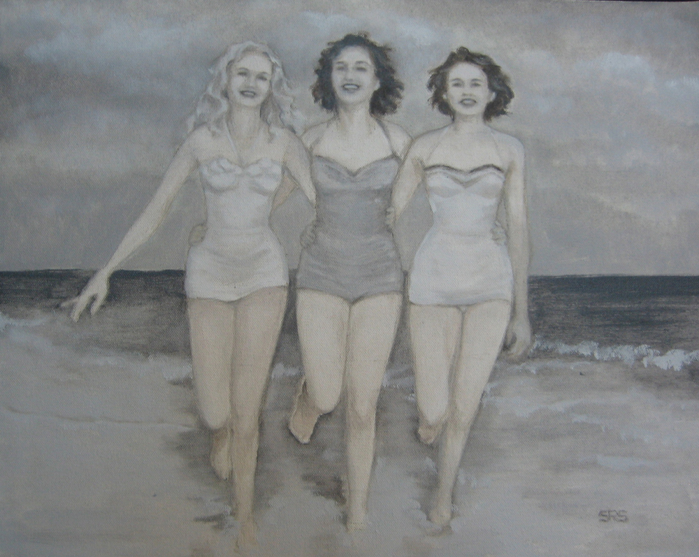 Three Ladies at Water's Edge, 2015