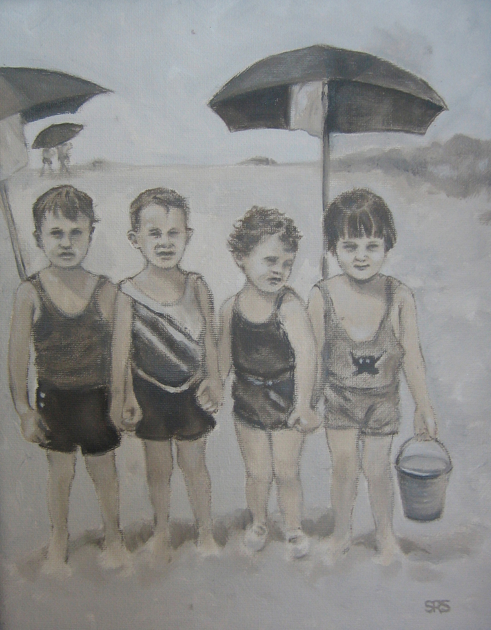 Toddlers at the Beach, 2015