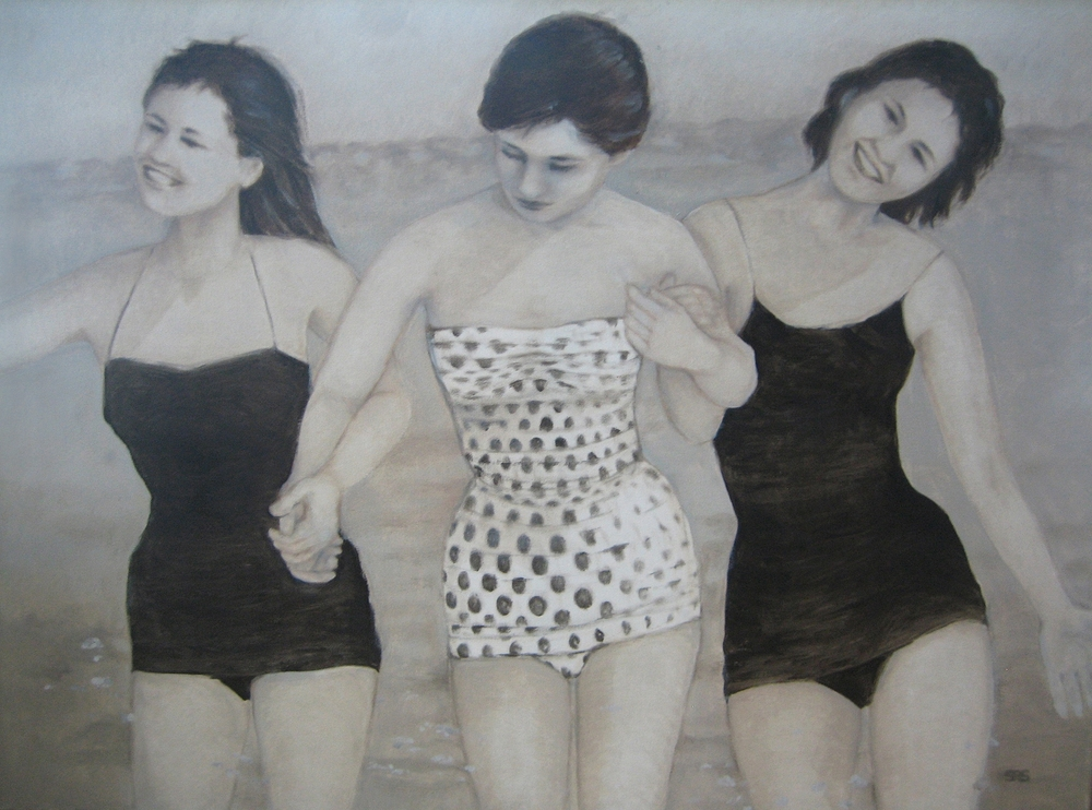 Three Ladies Splashing, 2014