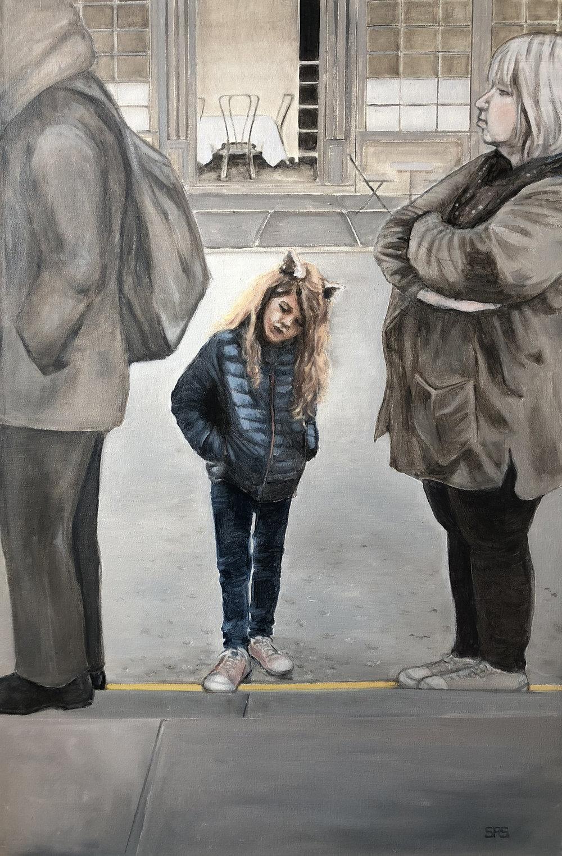 Little Girl On Line - London, 2018