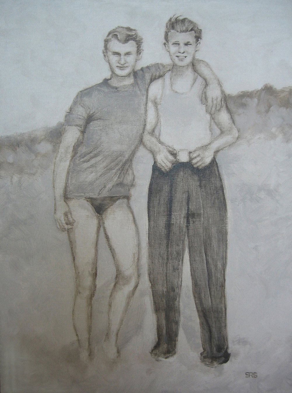 Two Men at the Beach, 2015