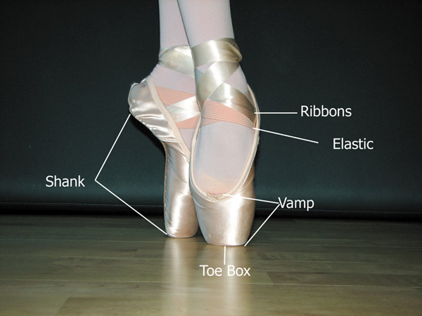 Although dancing on one's toes is painful, it's easier to do with the structure of the pointe shoe.