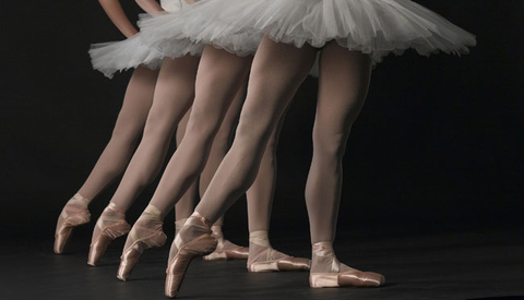 Pointe work visually extends the leg and makes the ballerina appear to be floating on air.