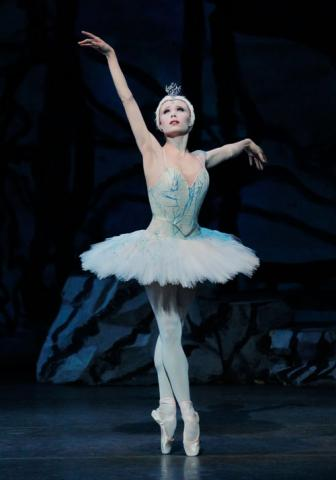 "NYC Ballet Principal Dancer Sara Mearns, a Columbia SC native, as Odette in Balanchine's ""Swan Lake."""
