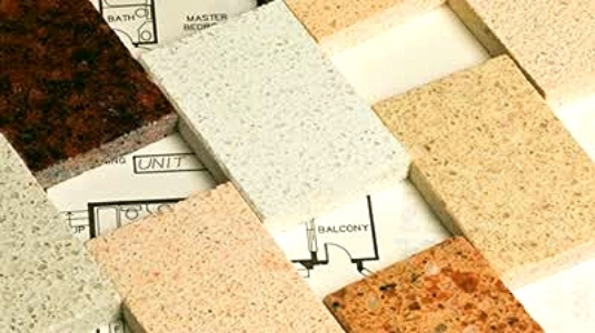 Selection of counter top materials