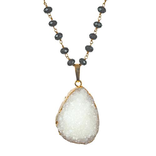 Ikia pendant necklace druzy sissy yates designs ikia pendant necklace druzy mozeypictures Gallery