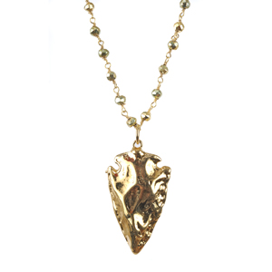 Gold arrowhead pendant necklace sissy yates designs gold arrowhead pendant necklace aloadofball Image collections