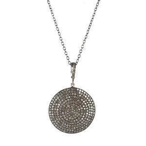 Pave diamond collection sissy yates designs moonlight necklace pave diamond pendant aloadofball Choice Image