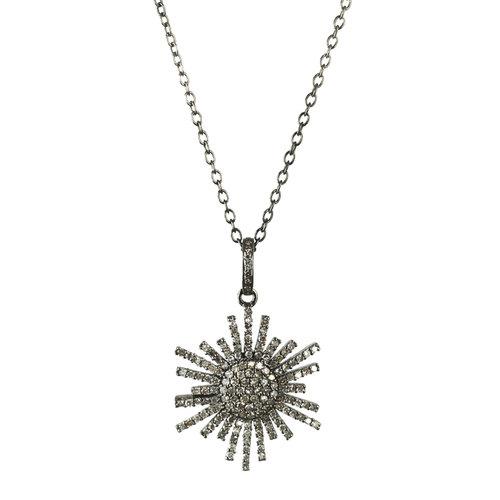 Planet necklace pave diamond pendant sissy yates designs planet necklace pave diamond pendant aloadofball Images