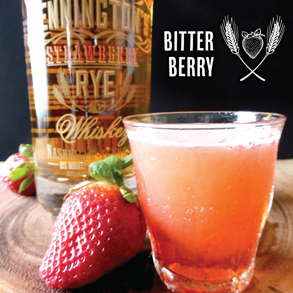 Bitter Berry Cocktail from Pennington's Strawberry Rye Whiskey