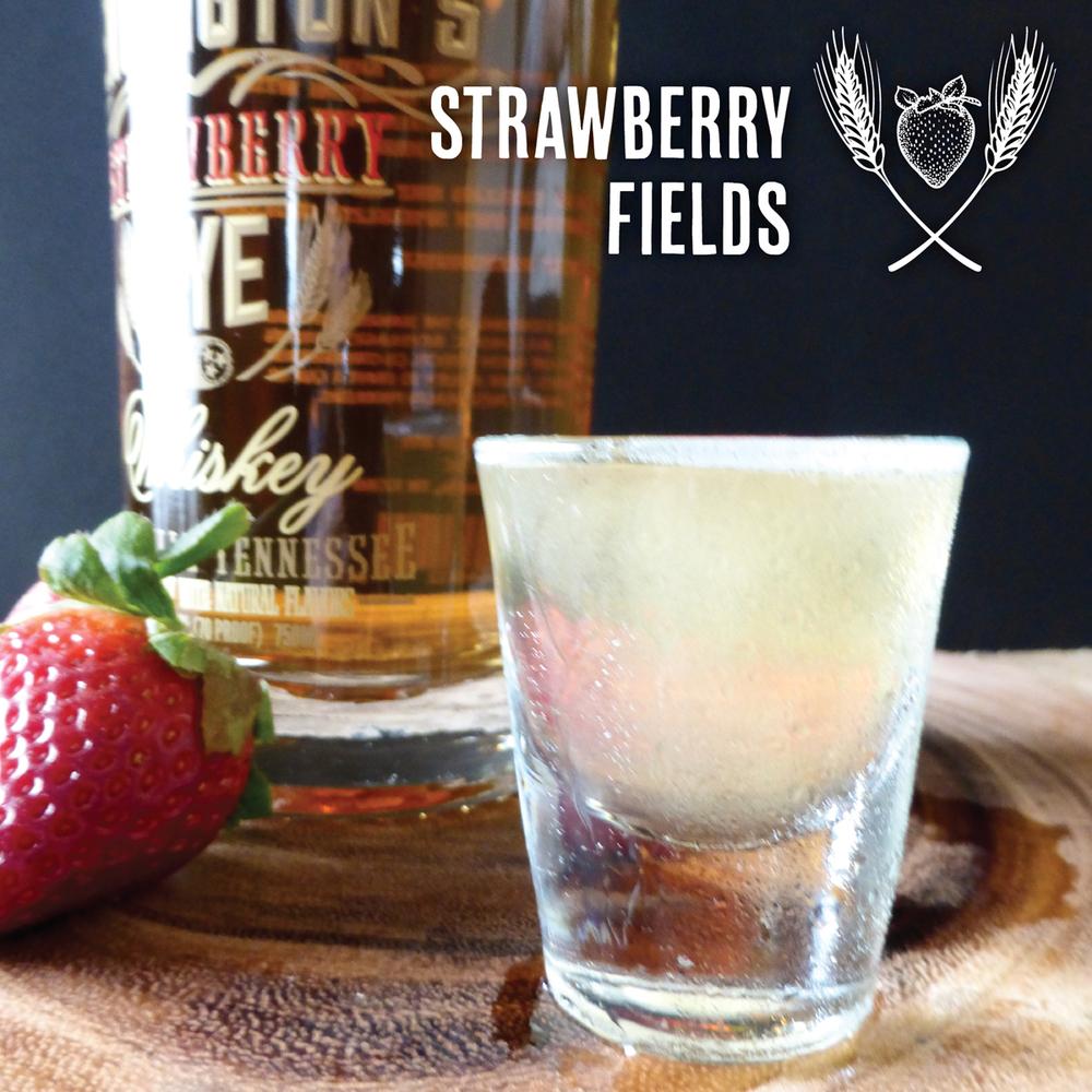 Strawberry Fields Shooter with Pennington's Strawberry Rye