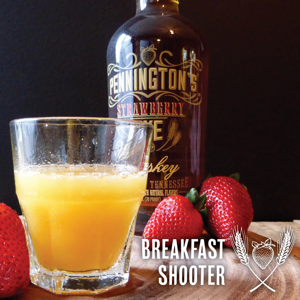 Strawberry Rye Whiskey and OJ - now that's breakfast!