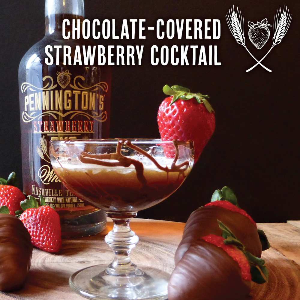 Chocolate Covered Strawberry cocktail - so good!