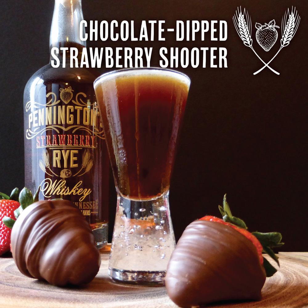 Chocolate-Dipped Strawberry Shooter - YUM!