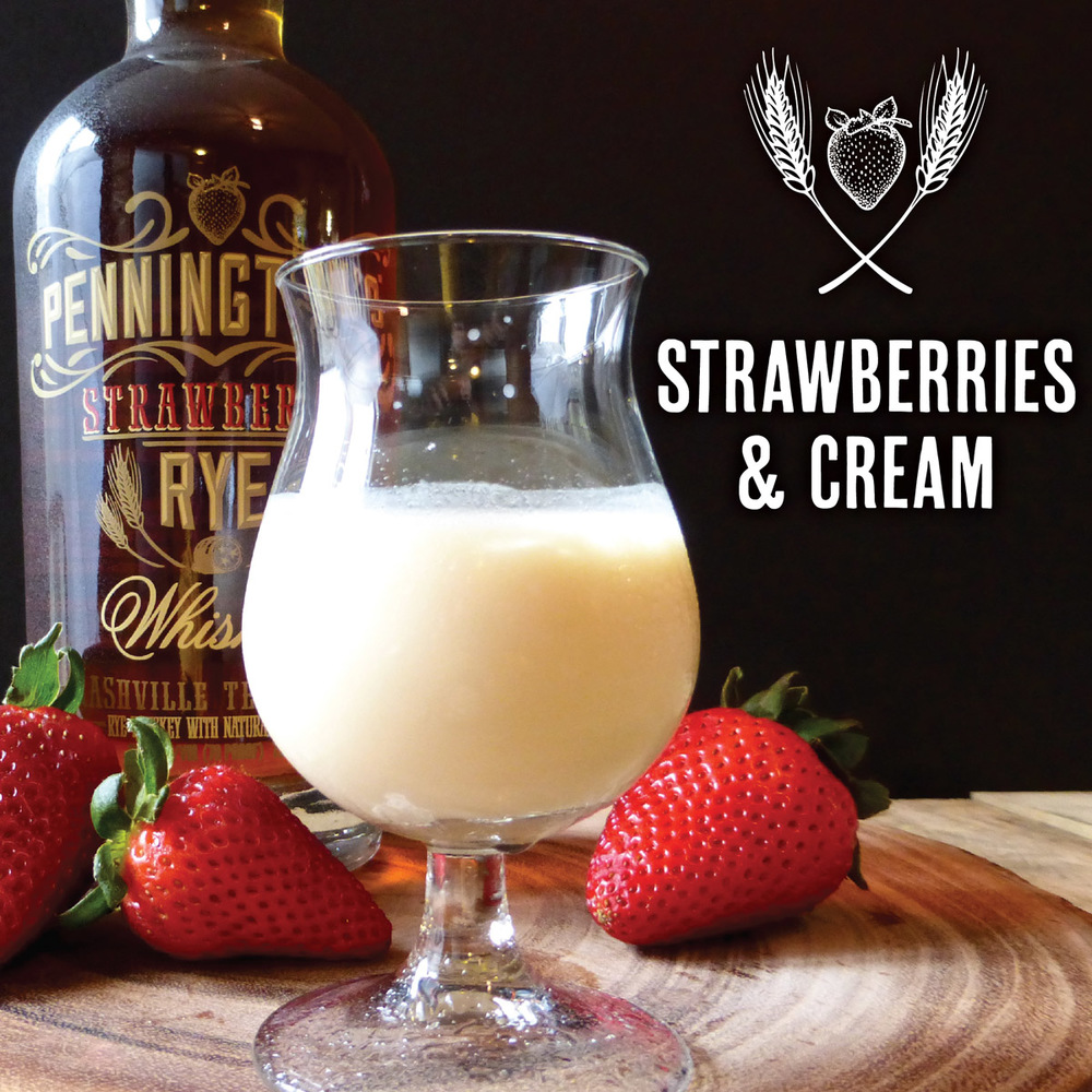 Strawberries and Cream combine to make this delicious shooter from Pennington's Strawberry Rye