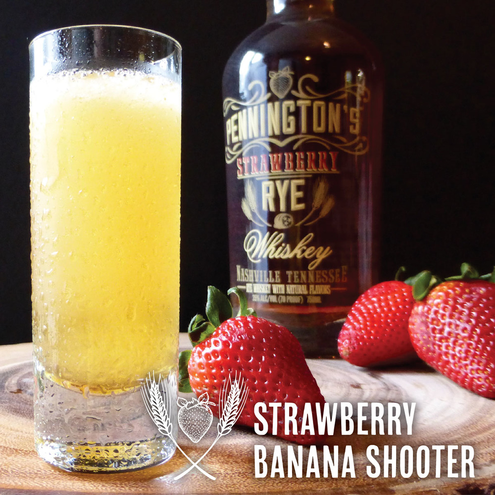 Oh yeah! Strawberries and banana in a shooter form? Yes please!