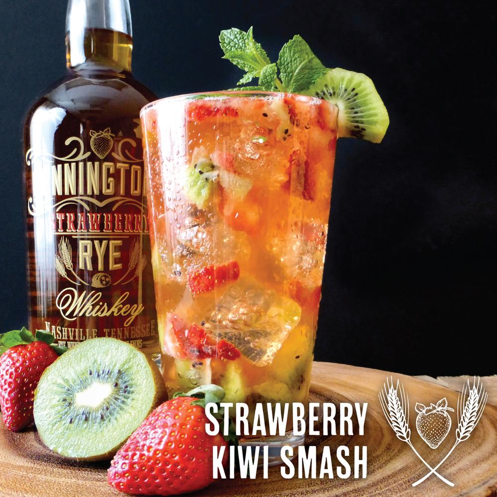 So good! The Strawberry Kiwi Smash made with Pennington's Strawberry Rye Whiskey