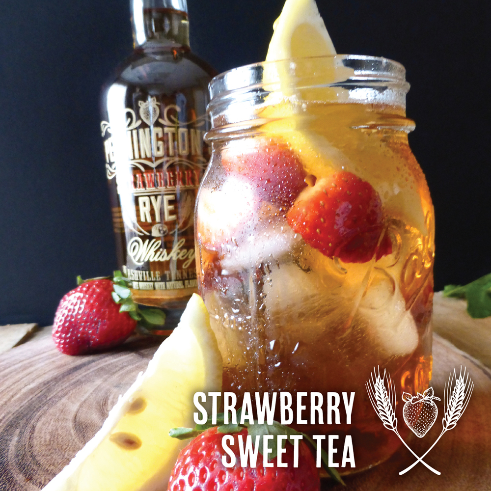 Pennington's Strawberry Rye Whiskey and Iced Tea - now that's Southern!