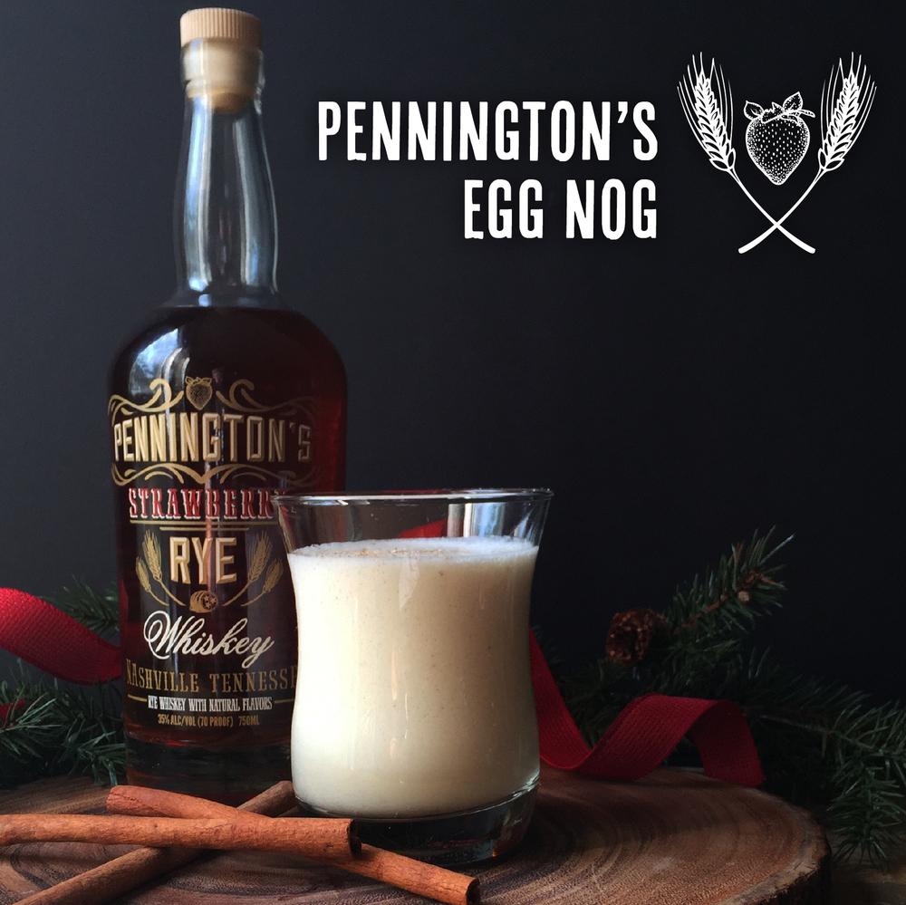 Delicious Egg Nog recipe with Pennington's Strawberry Rye Whiskey