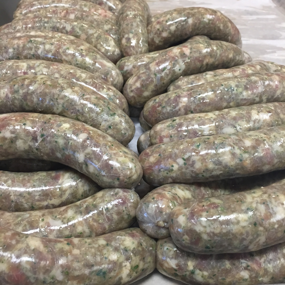 Fresh Italian verde sausage with anchovy, parsley, garlic, and lemon.