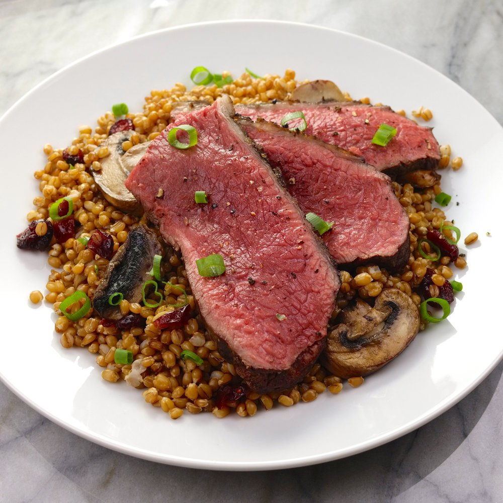 Coulotte Steak with Mushroom Wheat Berry Salad.JPG