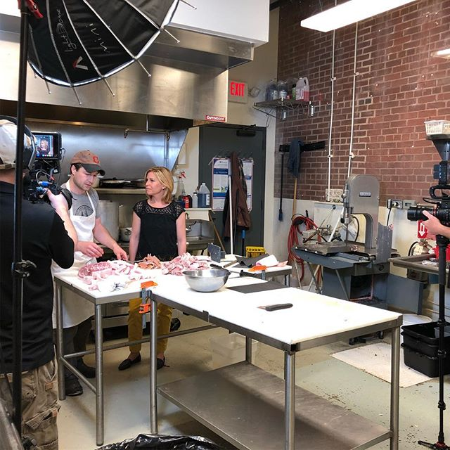 It's an exciting day for Left Bank Butchery! @tastemakerspbs is here filming an episode for their upcoming series on @pbs.  We're honored to be featured on this nationally televised show, which is showcasing a variety of innovating and progressive makers who approach their work with a focus on integrity, quality and sustainability as they craft some of the country's best food and drink.  #integrity #sustainability #transparency #unyieldingcommitment