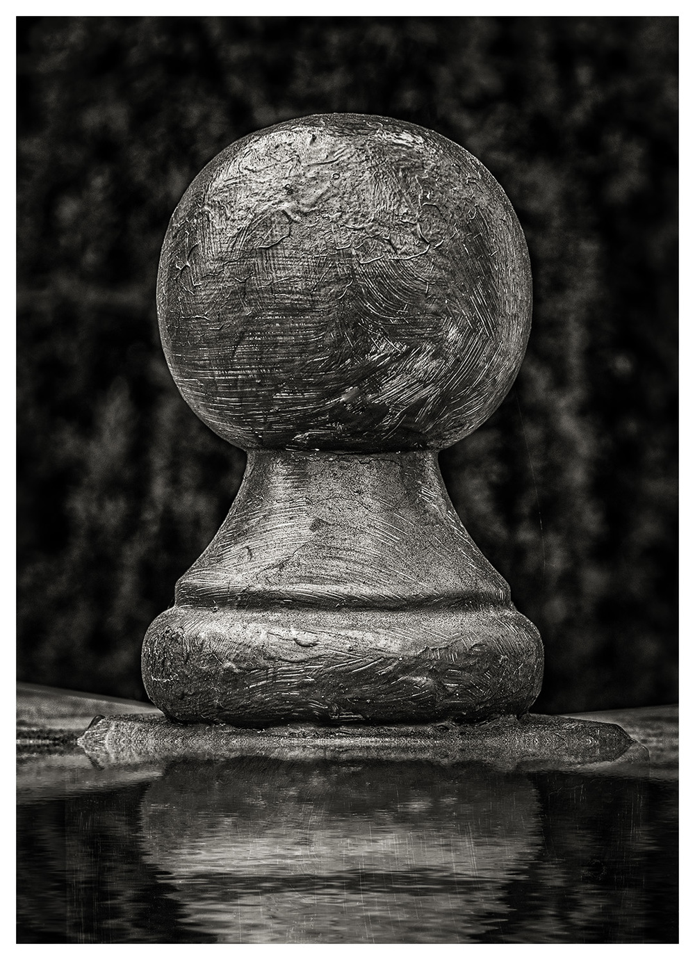 Wood Cannon Ball Finial
