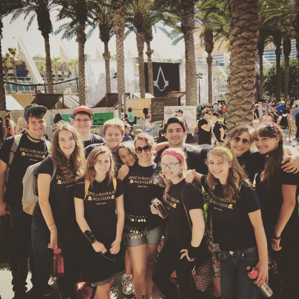 Team Ahiram at Comic-Con, July 2015
